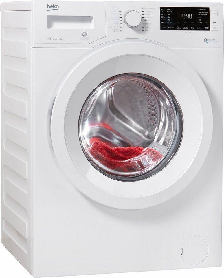 BEKO Waschtrockner WDW 85140, 8 kg/5 kg, 1400 U/Min