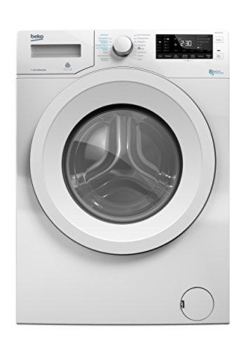 Beko WDW 85140 Waschtrockner/1088 kWh/8 kg Waschen/5 kg Trocknen/Aquawave-Schontrommel/Mengenautomatik/Watersafe/weiß