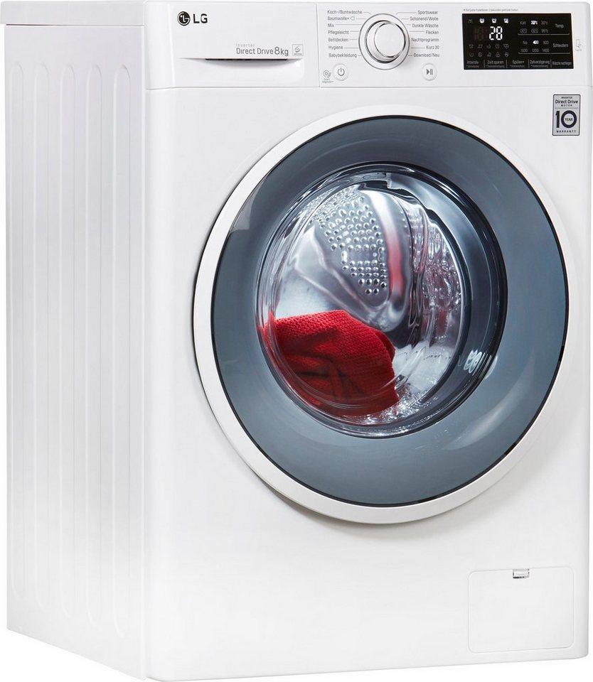LG Waschmaschine F14WM8EN0, 8 kg, 1400 U/Min