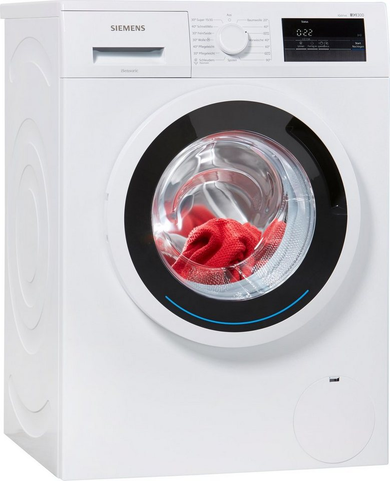 SIEMENS Waschmaschine iQ300 WM14N0ECO, 6 kg, 1400 U/Min