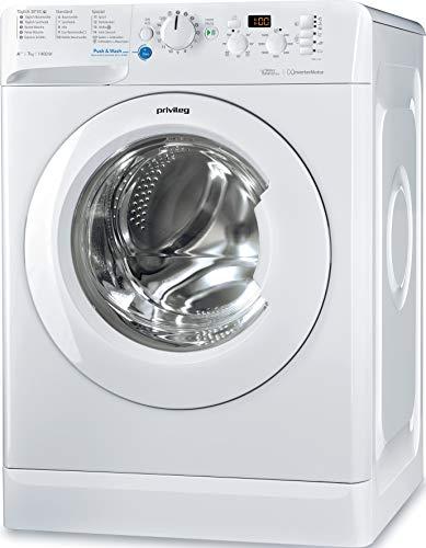 Privileg PWF X 743 Waschmaschine Frontlader / A+++ / 1400 UpM / 7 kg /Mengenautomatik/Startzeitvorwahl/Maschinenreinigung/Inverter Motor/Wasserschutz/Antiflecken-Option/Bügelleicht-Option/Daunen